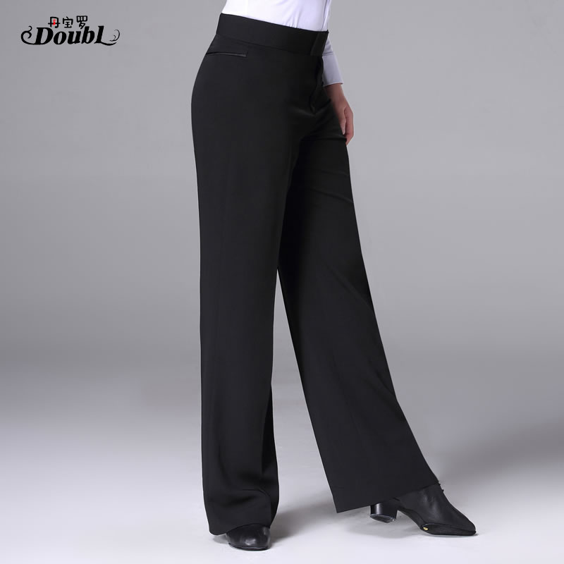 Men Professional Latin Proformance Dance Pants Adult Male Ballroom Dance Trousers Square National Standard Practice Pants H692