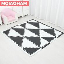 MQIAOHAM детская пена EVA головоломки игровой коврик/Централизации упражнение ковровое покрытие Плитки, коврик для детей треугольник 35 см * 1 см черный белый