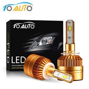 LED Headlight H27 880 881 890 Led Bulb 6000K 8000LM LED Auto Headlamp h27w h27w1 h27w2 led Automobiles LED Lights 12V 24V White(China)