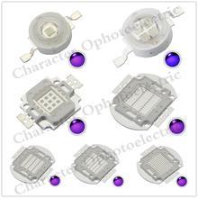 UV Purple LED Ultraviolet Bulbs Lamp Chips 365nm 375nm 380nm 385nm 395nm 400nm 405nm 3W 5W 10W 20W 30W 50W 100W High Power Ligh ultrafire 3w 12 led 405nm purple flashlight silver 3 x aaa