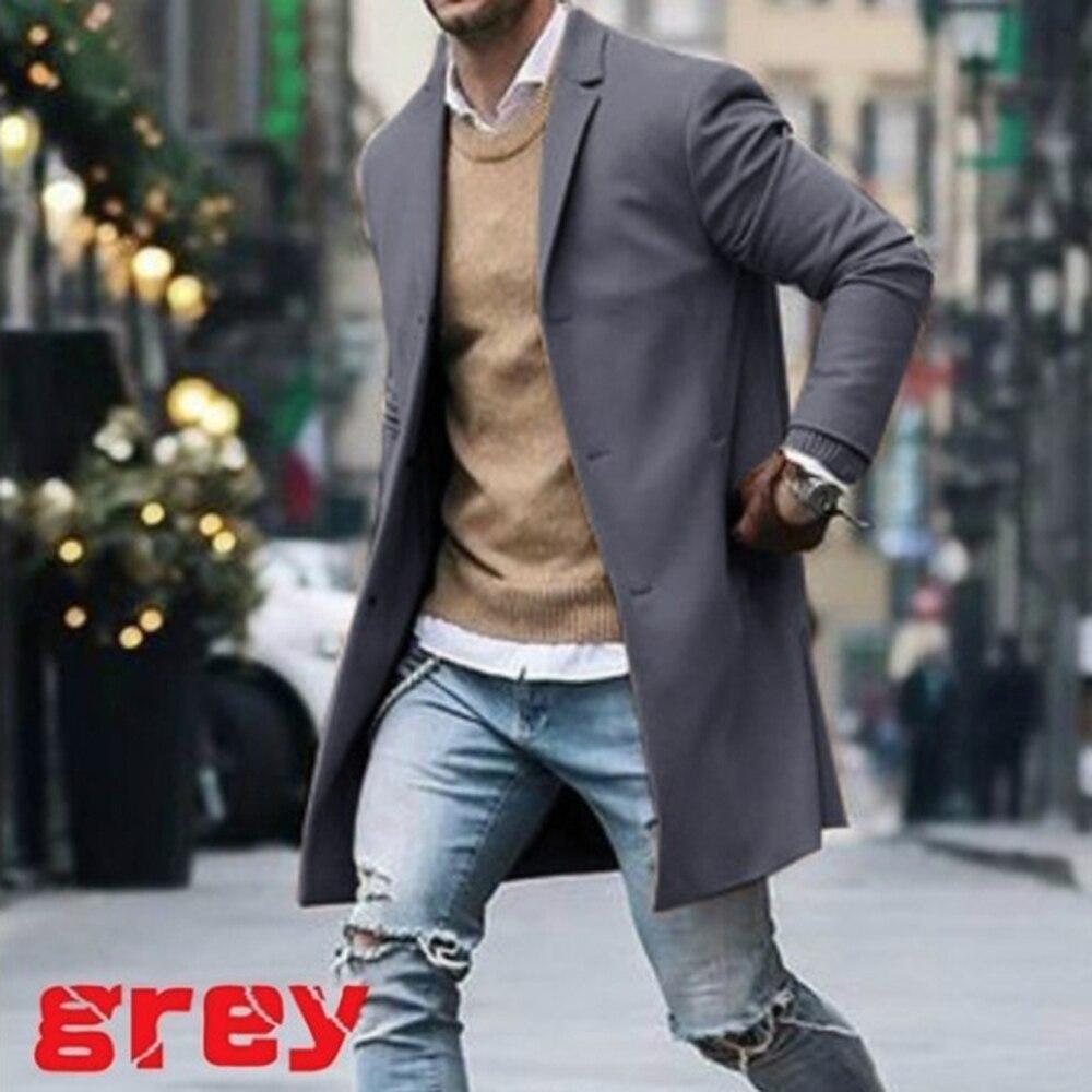 Mascube Mens Overcoat Men Fashion Winter Trench Coat Men Long Overcoat Classic Jackets Solid Slim Fit Outwear abrigo hombre