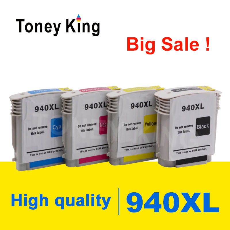 Toney King <font><b>940XL</b></font> Compatible Ink Cartridge Replacement for HP 940 XL C4906A C4907A C4908A C4909A For HP Officejet Pro 8000 8500 image