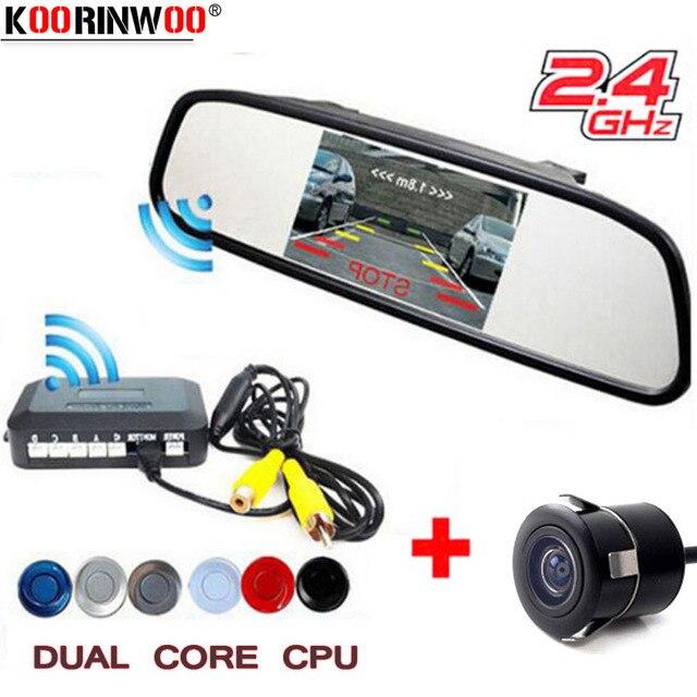8e179b6a5f989 Koorinwoo 2.4g Voiture Parking Capteur D alarme Sondes Système Kit 5