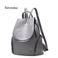 Nevenka New Arrival Women Bag Preppy Backpack PU Leather Fresh Zipper Bags Solid Pendants Casual Backpacks