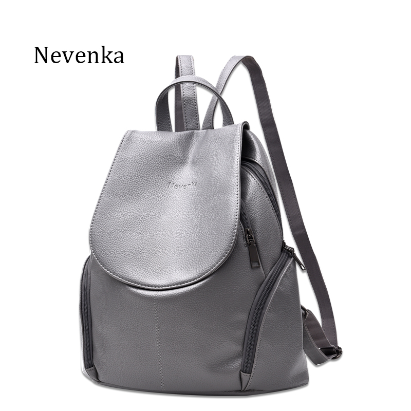 Nevenka New Arrival Women Backpack Lady Backpacks PU Leather Bag Fresh Sac Zipper Bags Casual Shoulder Bag Teenagers Mochila new arrival vintage men pu leather backpacks large capacity zipper solid backpack for teenagers high quality black shoulder bags