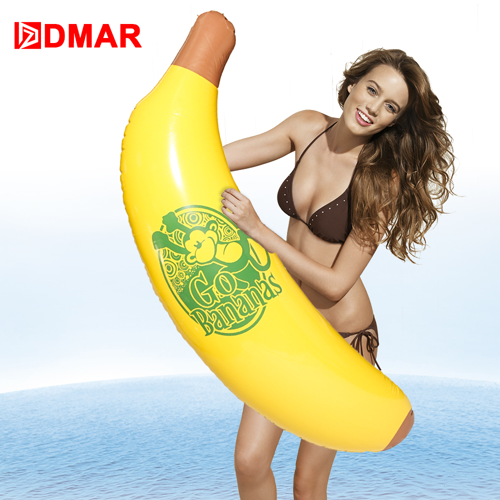 DMAR 110cm Inflatable Banana Giant Pool Float Water Toy Swimming Ring Mattress Sea Beach Party Kid Adult Flamingo Unicorn Donut