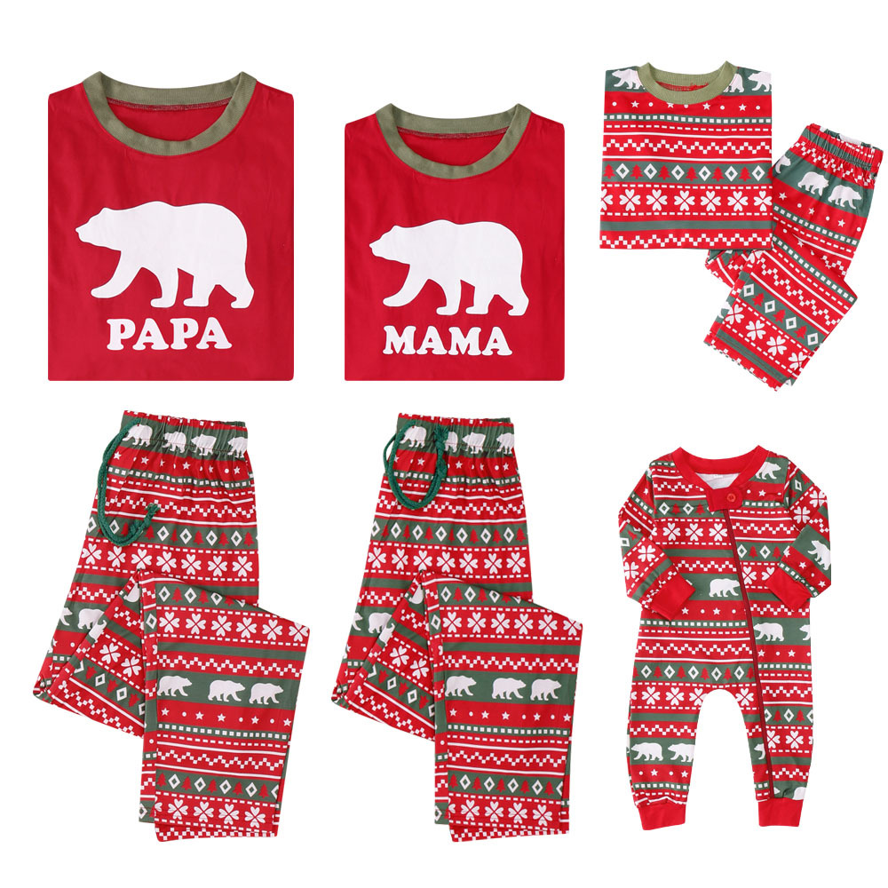 Mother Daughter Clothing Christmas Pajamas Matching Family