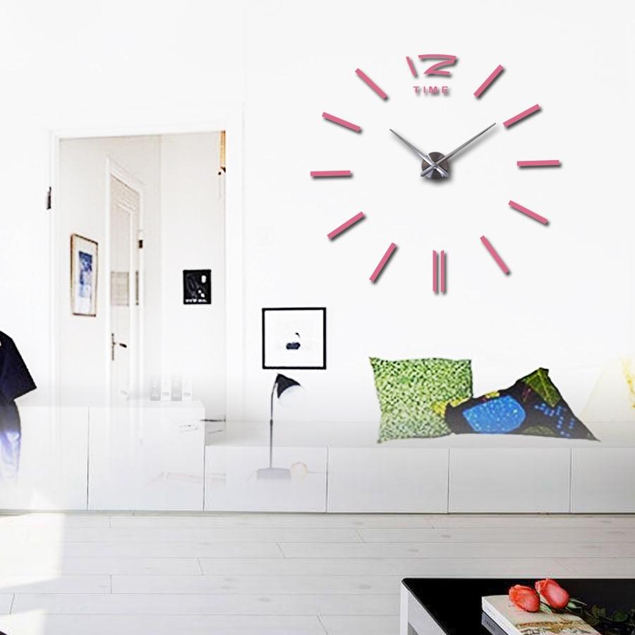 Wall clock 3D DIY Acrylic Mirror Stickers
