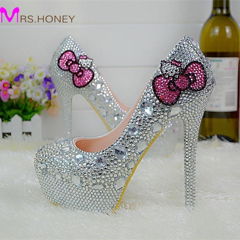 Hello Kitty Silver Rhinestone Bridal Wedding Shoes ...  Hello Kitty Sil...