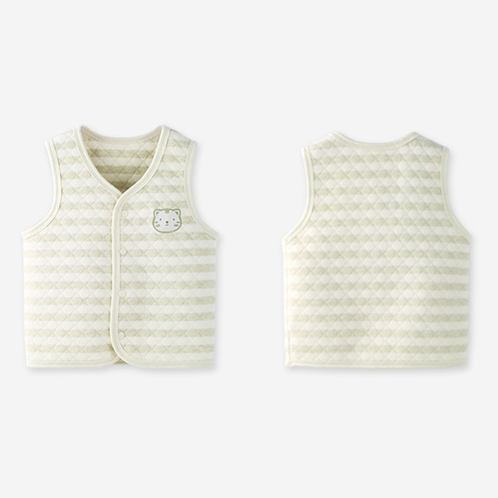 COBROO Unisex Baby Vest Spring//Autumn//Winter 100/% Cotton Infant Snap-Up Front Vest 3-24 Months