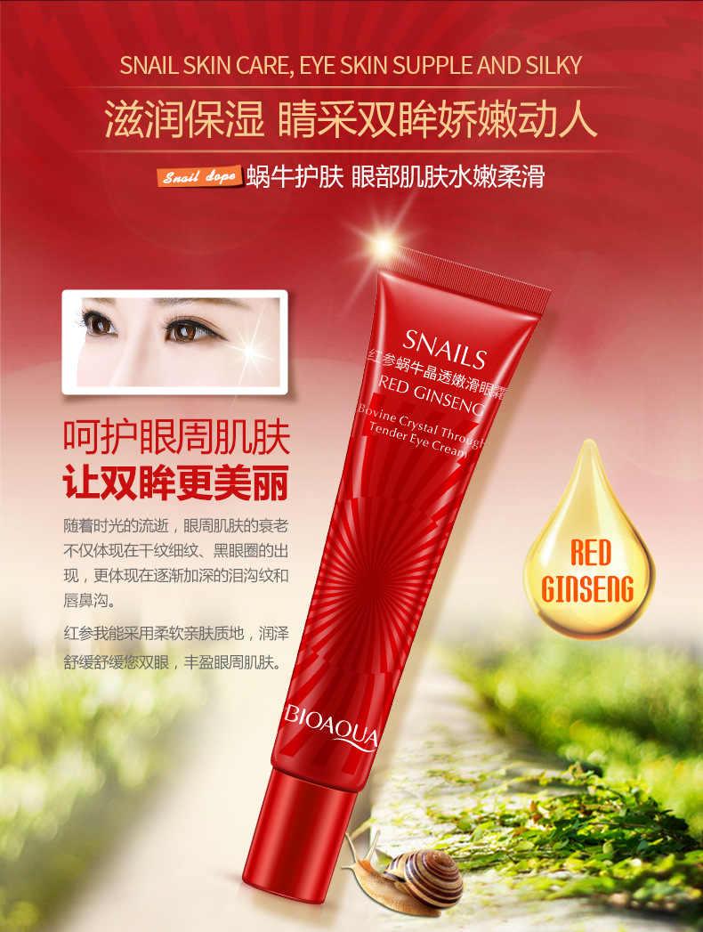 Siput Kristal Anti Kerut Anti-Aging Eye Cream Secara Efektif Menghilangkan Lingkaran Hitam Edema Perbaikan Mata Mengangkat Krim Pelembab