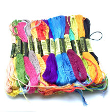 50 Colors Cross stitch thread   Embroidery Thread Floss Sewing Skeins Craft DIY  Bracelet braided sewing thread cross stripes cabbie hat