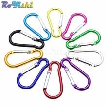10 pz/pacco Alluminio Carabiner Snap Hook Keychain Per Paracord Attività Allaperto Campeggio Trekking 10 Colori