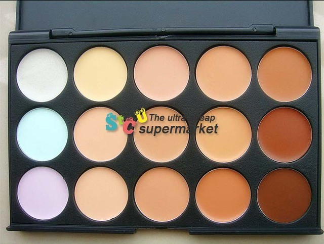 New 2015 makeup 15 color concealer palette  mc base concealer maquiagem  necessary