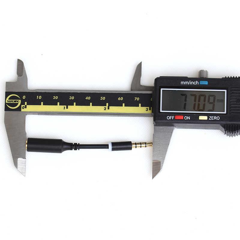 10 cm 3.5mm Stero Pria Wanita M/F Plug Jack Headphone Audio Perpanjangan Kabel Pendek