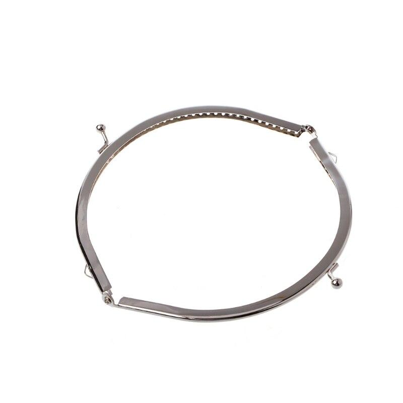 1 Pc Metallrahmen Kuss Schließe Arch Diy Handwerk Für Handtasche Tasche Silber Ton 15 Cm Eine VollstäNdige Palette Von Spezifikationen