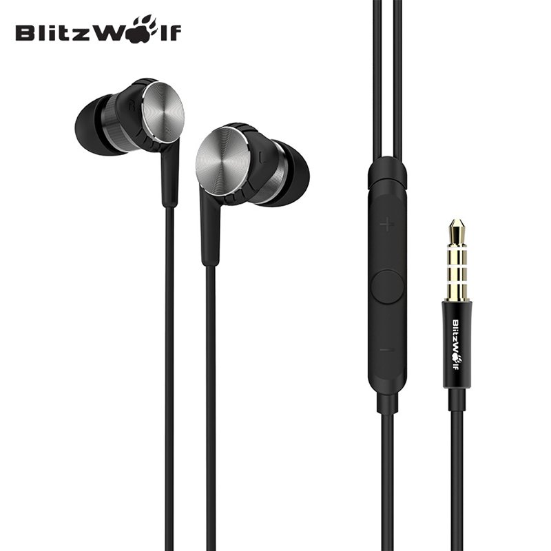 BlitzWolf BW VOX1 Hybrid Drivers Dual Drivers Earphone Music Sound Earbuds With Microphone For Smausng For