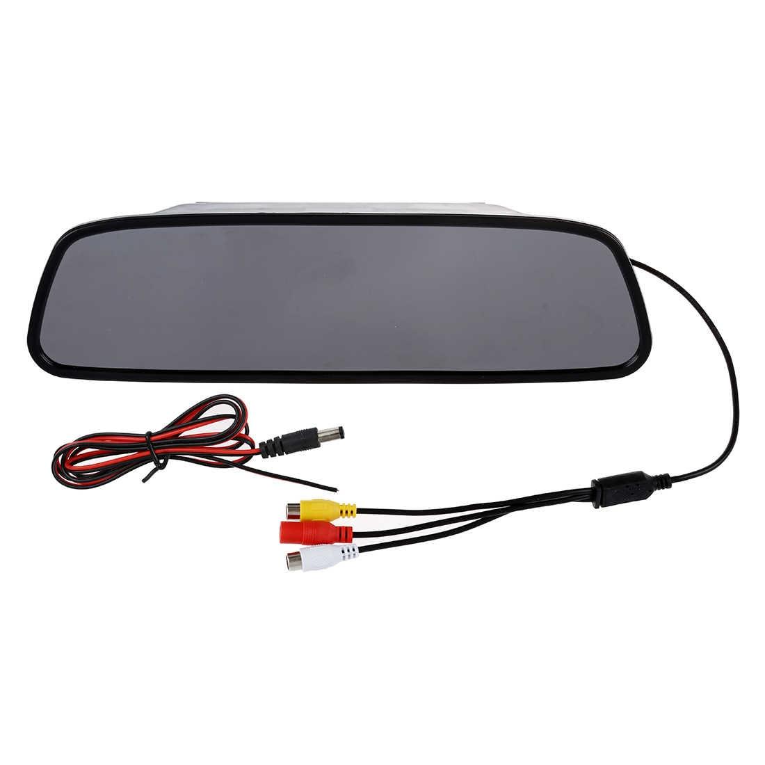 """5 """"5-дюймовый цифровой цветной TFT ЖК-дисплей зеркало заднего вида автомобиля Обратный монитор для камеры DVD VCR"""