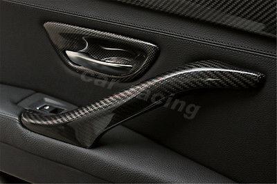 4 Pçs/set Fibra De Carbono Maçaneta Catch Cup Bacia Covers Fit Para BMW série 5 F10 Sedan 2011 2015 Estilo do carro - 4