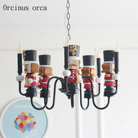 Cartoon creation small world European Grand Tour boy bedroom child chandelier artistic personality LED doll pendant lamp