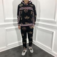 WE09174 модные Для мужчин наборы 2018 взлетно посадочной полосы Элитный бренд Европейский дизайн вечерние стиль Мужская одежда