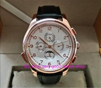 44ミリメートルパーニスアジア自動機械式ムーブメントメンズ腕時計ムーンフェイズ自動日付ローズゴールド腕時計ケース機械式時計p2