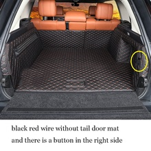 lsrtw2017 luxury fiber leather with wire loop car trunk mat for range rover Vogue 2012 2013 2014 2015 2016 2017 2018 2019