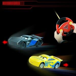 Image 5 - Big Size 22cm samochody disney pixar 3 pilot Storm Jackson oświetlenie McQueen Cruz Ramirez metalowy samochód zabawki chłopcy urodziny prezent