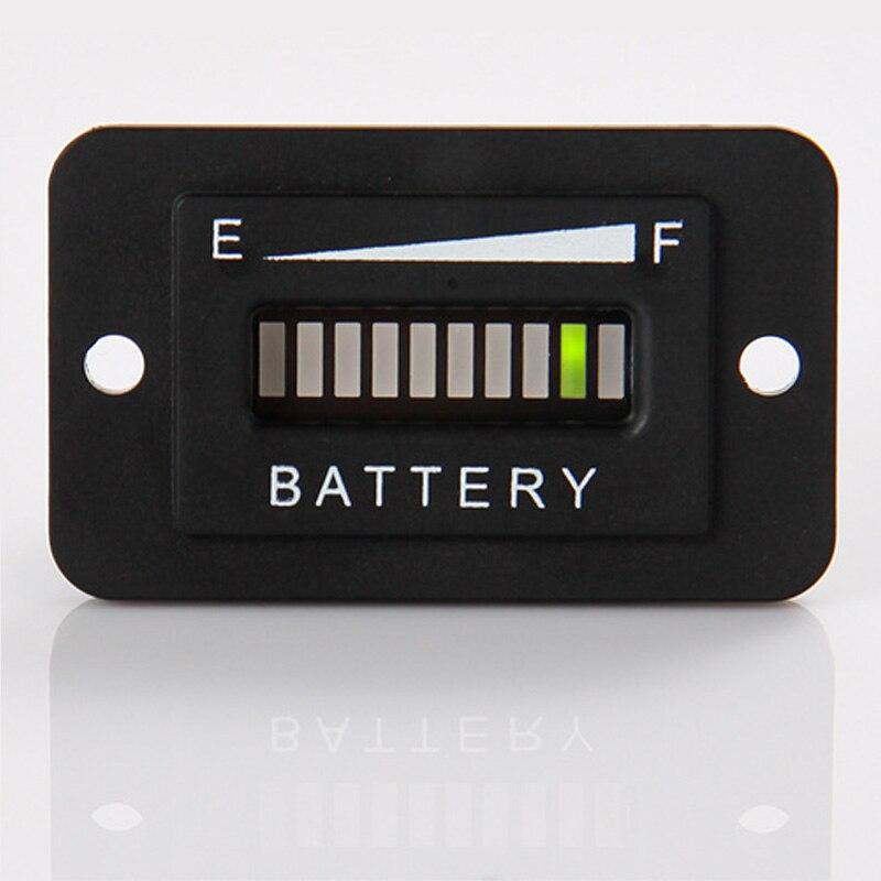 Lead acid storage battery 12/24V LED Battery Level 10-bar LED Indicator for Golf Kart Truck Electric Vehicle Car RL-BI003