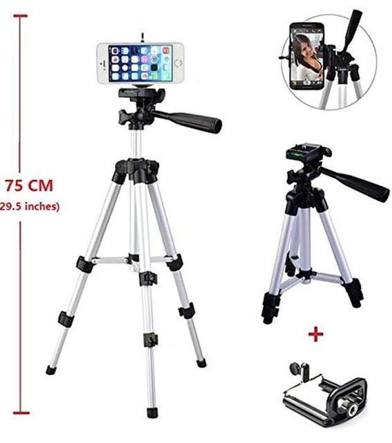 promo code 8a1ef 40dcb US $48.86 |Middle Aluminum Camera Tripod Monopod Mount Holder For iPhone 7  Plus 6S/For Nexus 5/6/7 For Samsung S8 S7 For Nokia Smartphones-in Live ...
