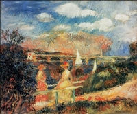 Modern canvas oil painting The Banks of the Seine at Argenteuil by Auguste Renoir decoration wall art for living room No Frame