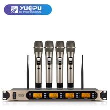 De alta Calidad! YUEPU RU-U400 4 Canales Sistema de Conferencia Micrófono de Karaoke Inalámbrico Profesional Etapa Utilizar Simultáneamente