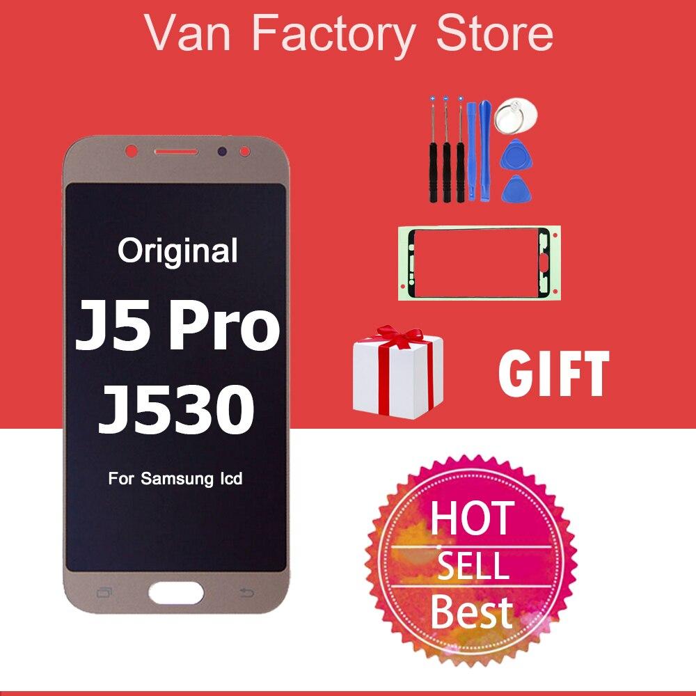 AAA Original AMOLED pour Samsung Galaxy j5 pro 2017 J530 J530F plein écran LCD écran tactile numériseur assemblée remplacement