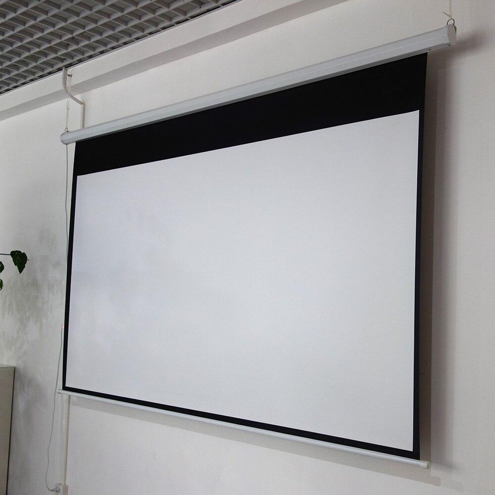 ThundeaL 100 pouces 16:9 écran de projecteur électrique Home cinéma école de commerce Bar LED motorisé DLP écran de Projection électrique - 5