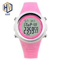 2018 Top Reloj Fashion Digital Women Watches Female Automatic Sport Watches Smart Electronic 30M Waterproof Watch Gift H312A C