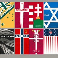 Australia Denmark Hungary Israel New Zealand Serbia Norway USA National Team Towel Sports Travel Towel Beach Swim Surfing Towel