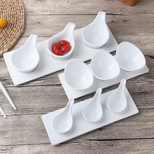 Ceramic Dishes Creative Salad Dishes Western Sauces Plates Bar Tableware Dishes Caviar Spoons Dessert Dishes Free Shipping