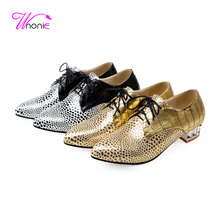 2017 Fashion Women Flats Oxford Pointed-toe Lace-up Snake Crocodile Grain PU Leather British Casual Party Dress Sexy Lady Shoes