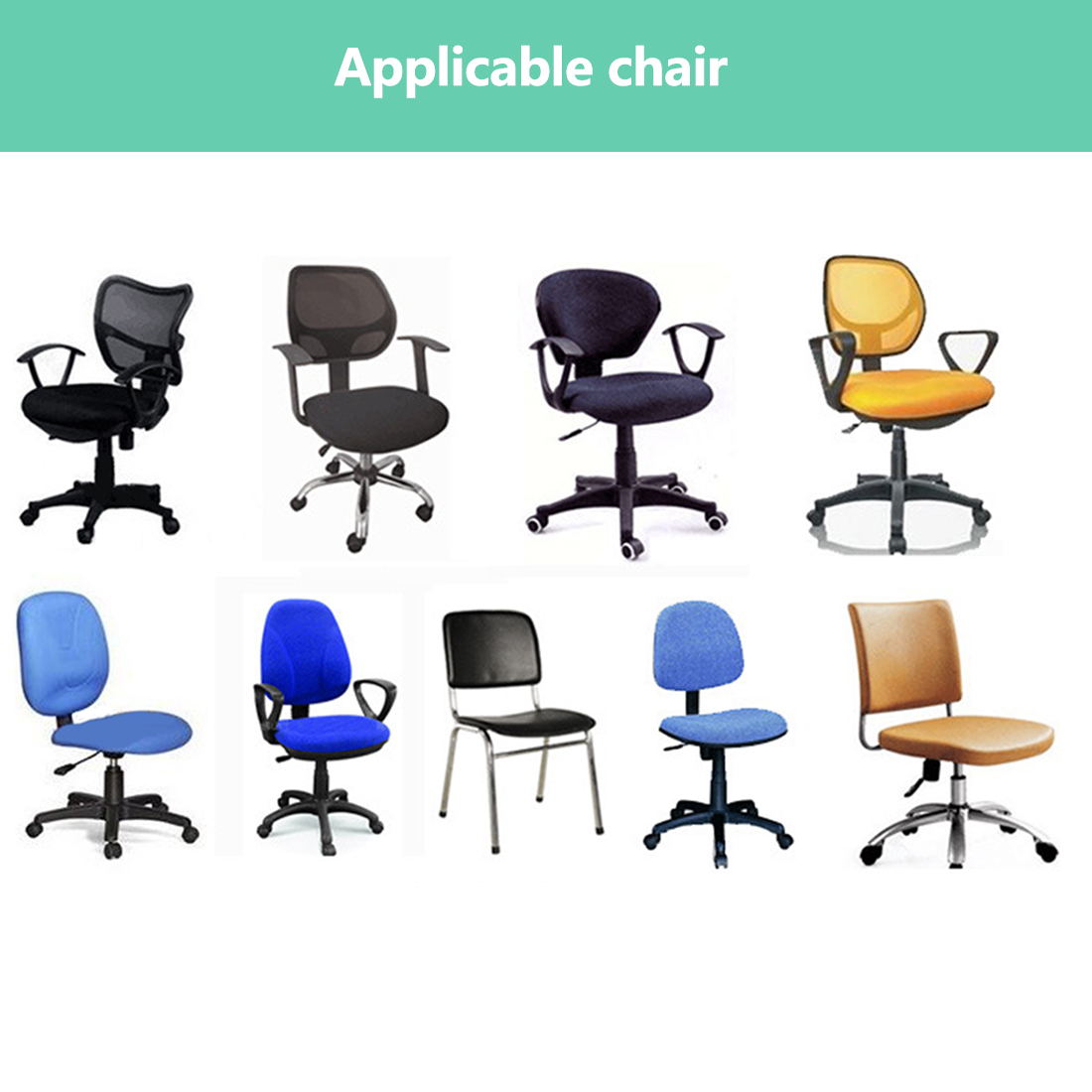 Elastic Chair Covers Made with Polyester Material For Office and Computer Chair in Universal Size 11