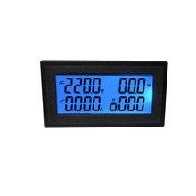 AC 60-500 V 20A 6 IN 1 A CRISTALLI LIQUIDI Digital Voltmetro amperometro Energy Tester Votage Misuratore di Corrente Frequencey di Alimentazione casa Meter Power Monitor