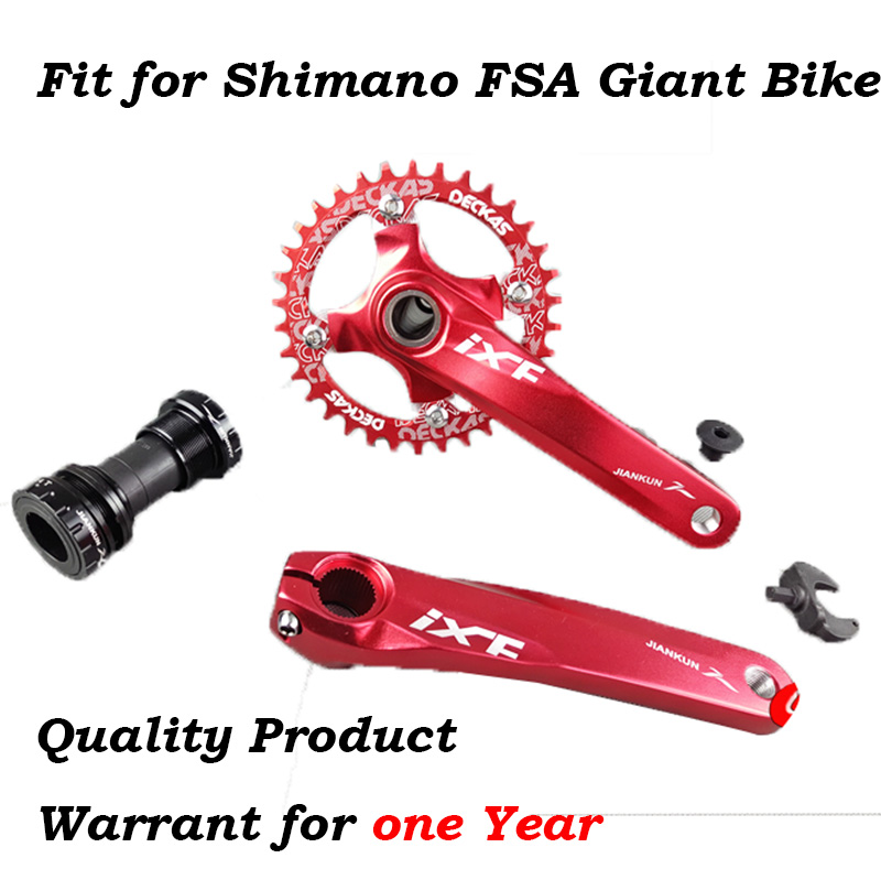 Mountain Bike Bicycle 170mm Crankset Crank Sprocket Aluminum Alloy Road Bike Chainwheel Fit For Shimano FSA XTC 750 ...