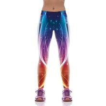 NEW 1075 Fashion Sexy Girl Women Dream Galaxy polka dot Digital 3D Prints High Waist Fitness Women Leggings Jogger Pants