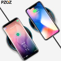 PZOZ Qi Wireless Charger For Apple IPhone X 8 Plus 10 Quick 5V 2A Desktop Fast