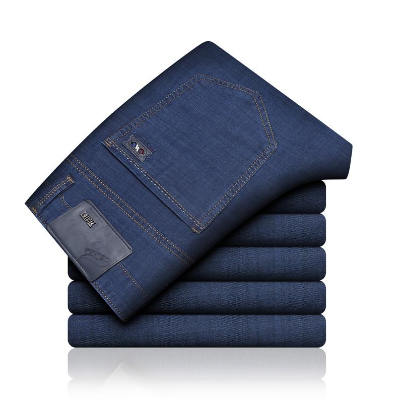 Male Jeans Men Jean Homme Men'S Classic Vetement Peto Vaquero Hombre Biker Straight Denim Slim Fit Celana Pants Trousers Fashion