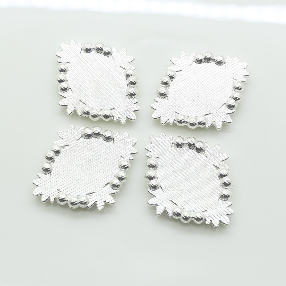 Hot sale 10Pcs lot Silver rhinestone buttons Negative film DIY Metal buttons  craft rhinestone buttons tray cap setting-in Buttons from Home   Garden on  ... 3e6f8e788e9b