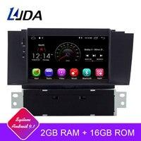 LJDA 1 Din 7 дюймов Android 9,1 автомобильный dvd плеер для Citroen C4 C4L DS4 wifi gps Радио 2G ram gps навигация радио мультимедиа вайфай
