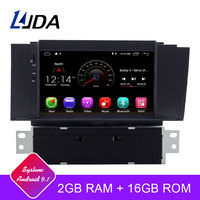 LJDA 1 Din 7 Inch Android 9.1 Car DVD Player For Citroen C4 C4L DS4 Wifi GPS Radio 2G RAM GPS Navigation Radio WIFI Multimedia