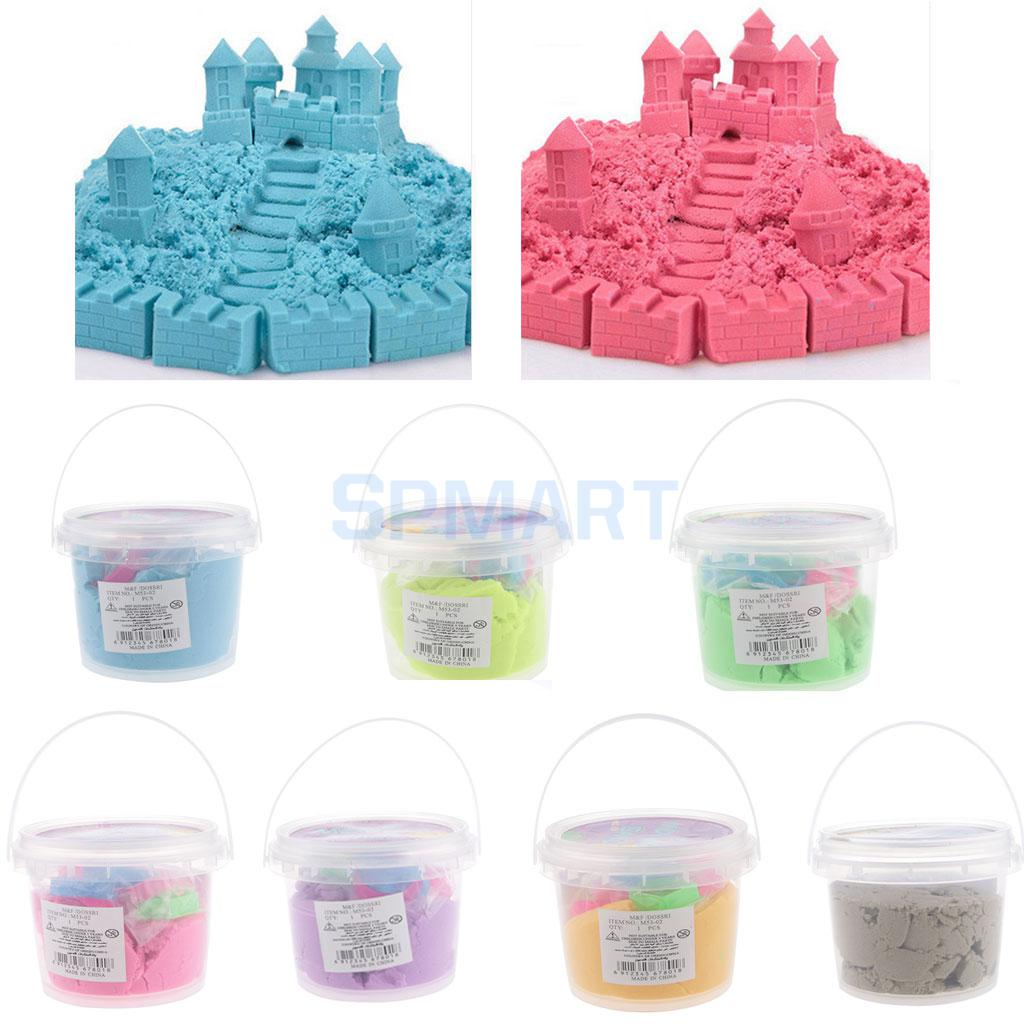400G Moving Sand Tub Play Set Beach Moulds Kids Moving Dough with Tools Motion Moving Playset