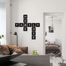 Modern Family Love Vinyl Wall Stickers For House Decor Decals Mural Muursticker For Living Room Decoration Wallpaper wallsticker(China)