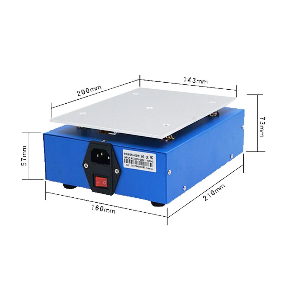 Купить с кэшбэком UYUE 946S Preheat Station 220V 400W Heating Plate For Phone LCD Screen Separator Machine Preheater Digital Thermostat Platform